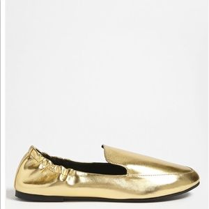 New faux leather loafers